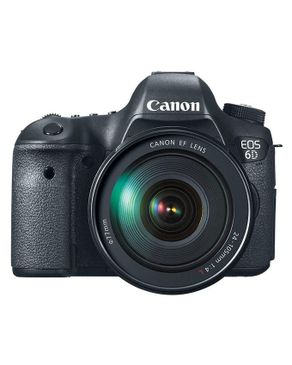 Canon EOS-6D Digital SLR Camera - Black + EF 24-105mm f/4L IS USM Lens + Cleaning Kit + Remote