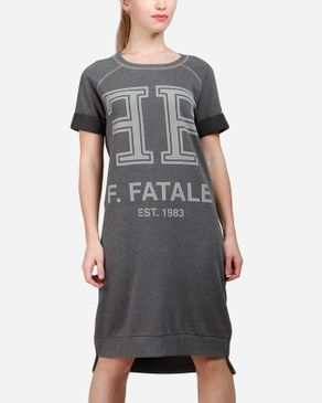 VERO MODA Only F.Fatale T-Shirt Dress - Dark Grey logo