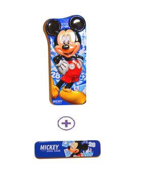 Top Fit Pencil Case Micky Mouse Blue - 2 Pieces