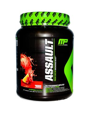 MUSCLE PHARM Assault Pre-workout - 50 Servings - Fruit Punch