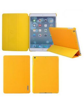 Baseus Leather Smart Case Stand Ultrathin Folder Cover Cover for Apple iPad Air - Orange