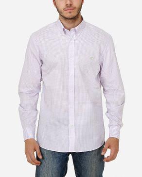Concrete Regular Fit Shirt-Light Purple logo