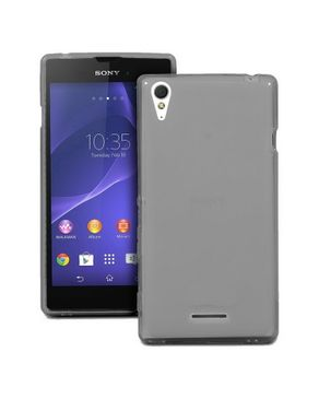 Generic TPU Rubber Skin Cover Case for Sony Xperia T3 Grey