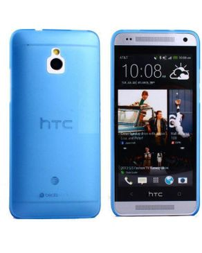 Generic Ultra-thin 0.5mm Transparent Matte Shell Cover Case For HTC One Mini M4 10 - Blue