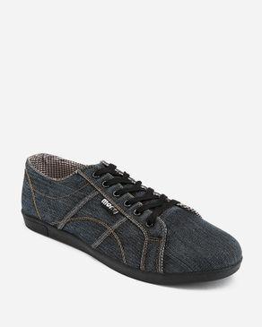 MORC Denim Casual Sneakers -Black logo