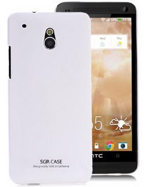 Generic SGP Smooth Solid Color Hard Cover For HTC One Mini M4 - White