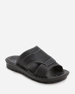 Aerosoft Kids Black Slip-On Open Toe Slippers logo