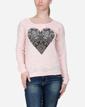 Wave Aztec Heart Top - Pink logo