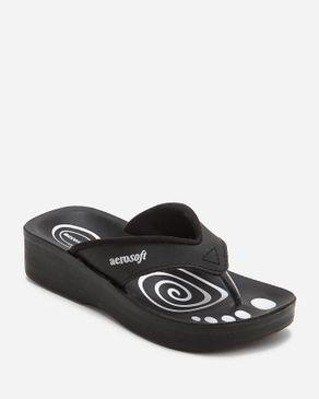 Aerosoft Kids Black Textile Slippers logo