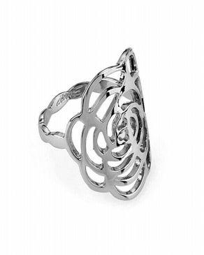 Dinardo Silver 18K Gold Plated Swarovski Ring logo