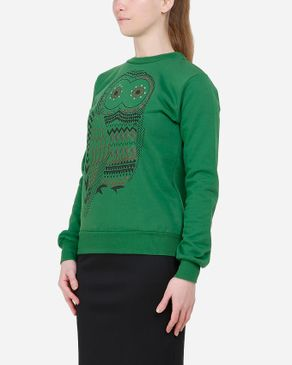 Be Positive Owl Sweatshirt - Green logo