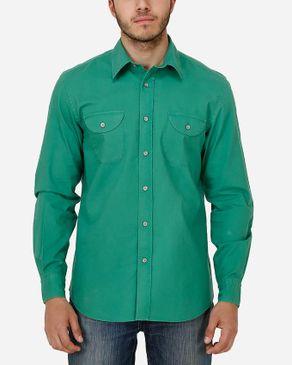 Concrete Regular Fit Shirt-Hunter Green logo
