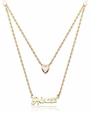 Dinardo Gold 18K Gold Plated Swarovski Necklace logo