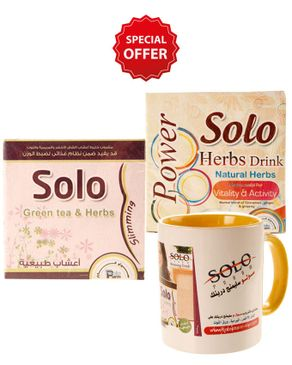 Solo 8 Herbs drink ( Power Drink )+One Solo Drink+Solo Mug