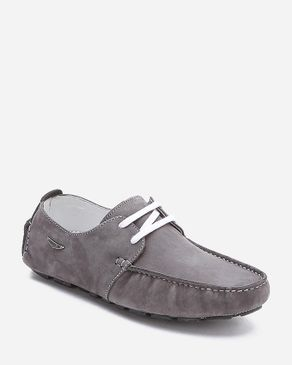 AMS Number 1 Grey Leather Lace Up Moccasin logo