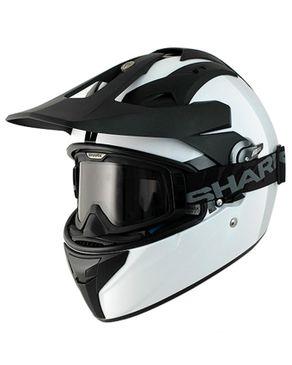 Shark Explore-R White Dual Sport Helmet - White