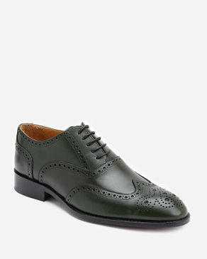 Top Perforated Oxford - Dark Olive logo