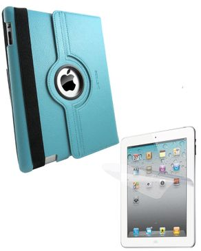 Ztoss CEO 360-II 360 Degree Rotation Folio Case for New iPad SSS291 Blue + ZTOSS i-Crytal Screen Guard Protector SGP209 logo