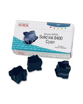 Xerox Genuine Solid Ink 8400 Cyan (Three Sticks)