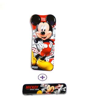 Top Fit Pencil Case Micky Mouse Red - 2 Pieces