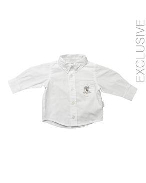 Stummer White Cotton Shirt logo