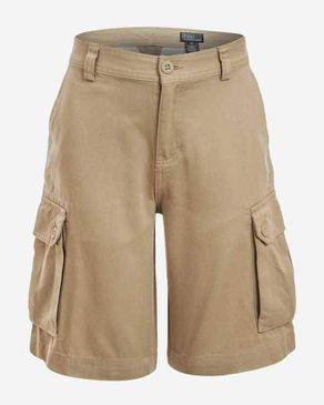 Ralph Lauren Kids Beige Cotton Gellar Shorts logo