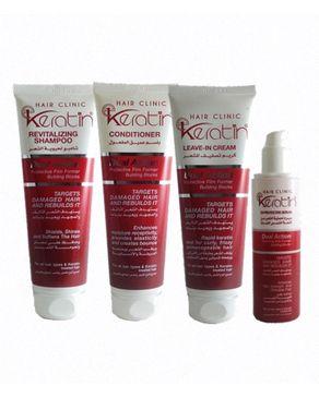 Eva Keratin Bundle - Anti Damage and Sun Protective for Hair (Shampoo + Conditioner + Cream + Serum)