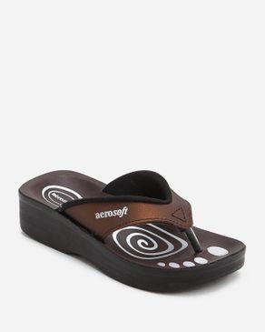 Aerosoft Kids Brown Textile Slippers logo