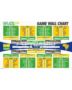 Pyramid International World Cup 2014 Wall Chart Maxi Poster - 61 x 91.5 cm