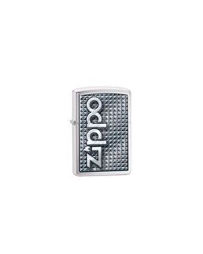 Zippo ZP-28280 3D Abstract 1 Lighter - Brushed Chrome logo