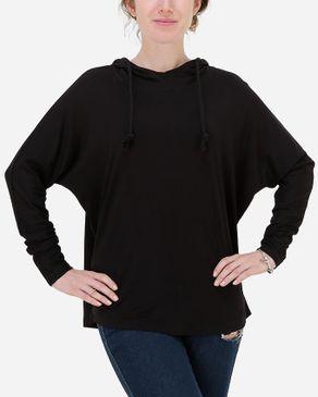 Hot Fashion Batwing Loose Hoodie - Black logo