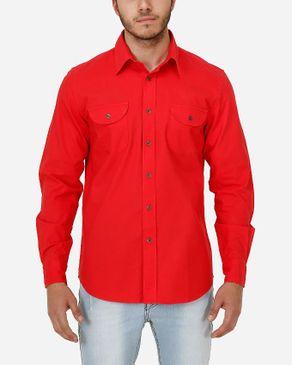 Concrete Regular Fit Shirt-Red logo