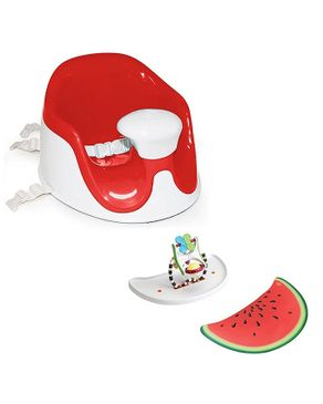 Prince Lionheart BebePOD® Chubs Plus Baby Sitter and Booster Seat - Watermelon Red
