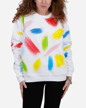E-Nash Painting Brush Sweatshirt - White logo