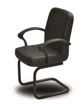 Sunny Metal Nova Leather Chair - Black