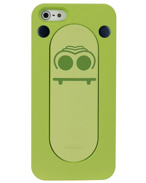 Ozaki OC540CR Colorful Snap Stand Case for iPhone 5 Crocodile - Green