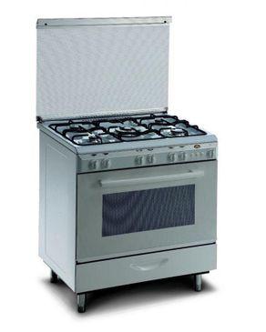 Kiriazi 8600 Gas Cooker - 5 Burners - White