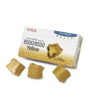 Xerox Genuine Solid Ink 8500/8550 Yellow (Three Sticks)