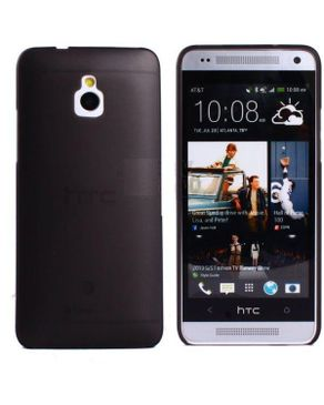 Generic Ultra-thin 0.5mm Transparent Matte Shell Cover Case For HTC One Mini M4 10 - Black