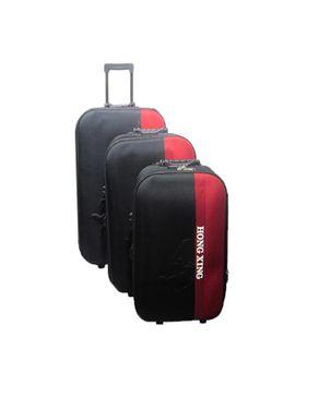 Hong Xing Travel Set bag 3 pieces - Black/red logo