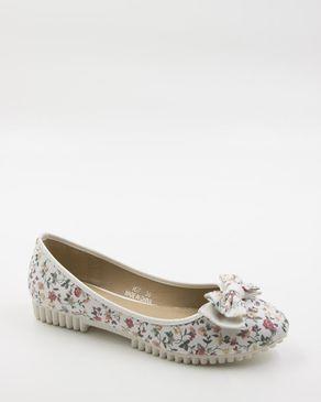 Walkies White Cloth Shoes logo
