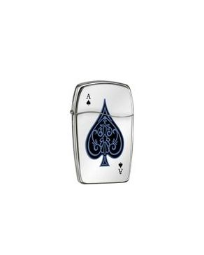 Zippo ZP-30047 Blu Ace of Spades Polish Chrome Lighter
