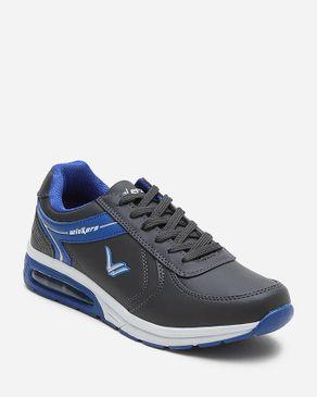 Wickers Indoor Sneakers - Dark Grey & Blue logo