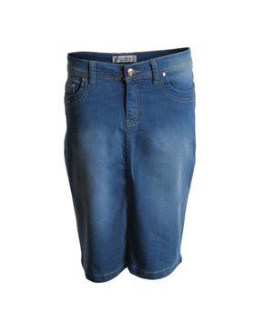 YOOY MIND Blue Cotton Jeans Skirt logo
