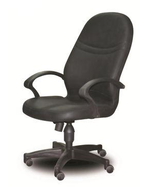 Sunny Metal Madrid Leather Chair - Black