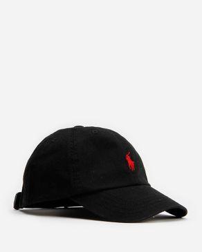 Ralph Lauren Boys Cotton Sports Cap - Black logo