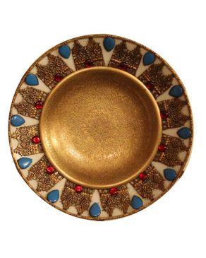 Malika Round Copper Plate - 30 cm logo