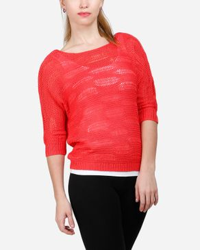 VERO MODA Only Knitted Top - Coral logo