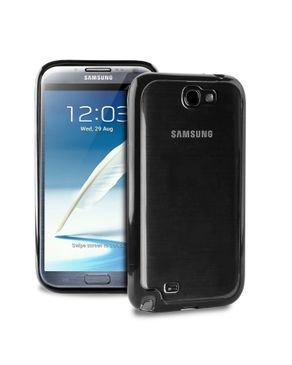 Puro Samsung Galaxy Note 2 Clear Cover - Black