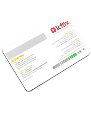 icflix Online Streaming Subscription Card - 6 Months